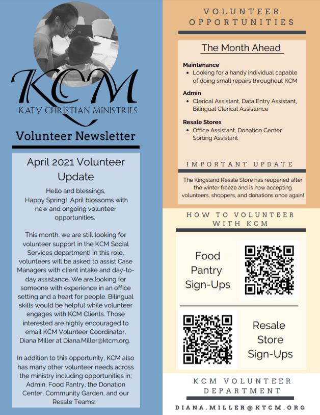 KCM Volunteer Opportunities